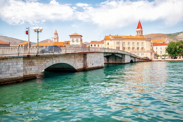Oude stad van trogir in dalmatië, kroatië, europa.