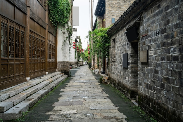 Oude stadsgebouwen en straten in nanjing, china
