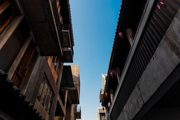 Oude stadsgebouwen in bangkok
