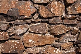 Oude stenen muur textuur grond