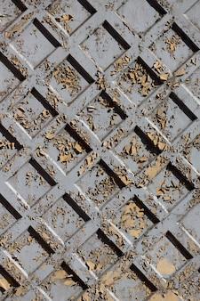 Oude stenen muur van grijze vierkanten. hoge kwaliteit foto