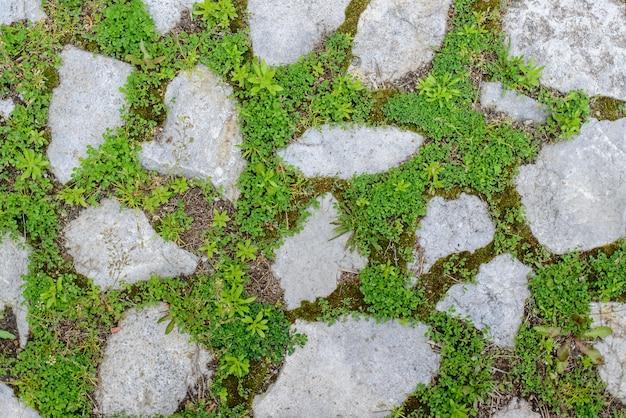 Oude stenen weg achtergrond