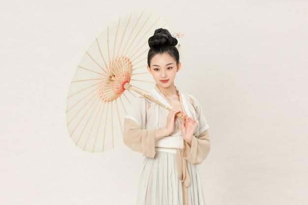 Oude stijl hanfu schoonheid