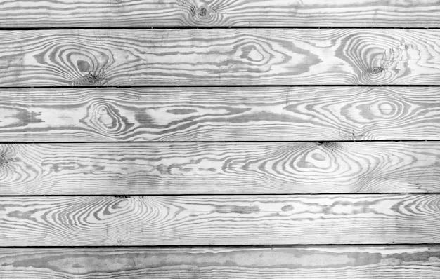 Oude tafelblad weergave vallen. houten plankenachtergrond, zwart-witte textuurraad.