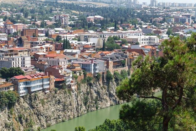 Oude tbilisi, fragment van de stad
