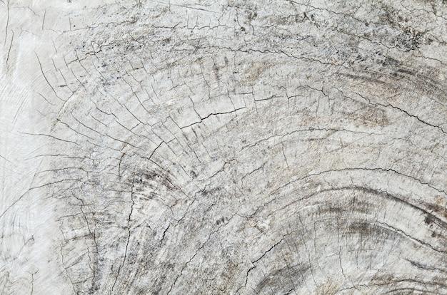 Oude teakhouten plank met scheuren