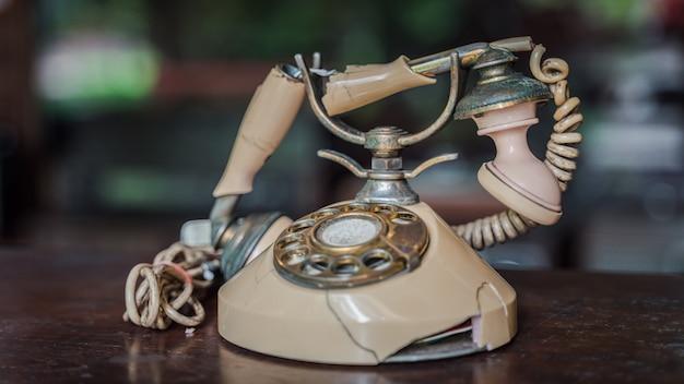 Oude telefoon retro