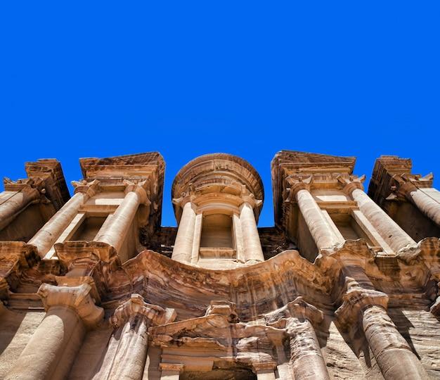 Oude tempel in petra, jordanië