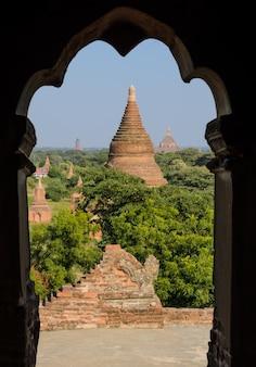 Oude tempels in bagan, myanmar