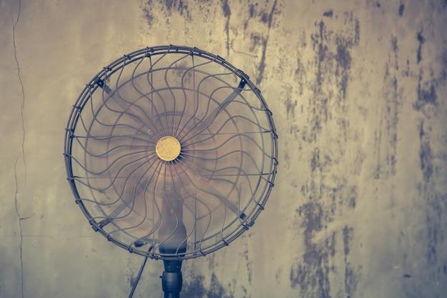 Oude ventilator in werking