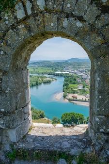 Oude vesting verdedigde de stad shkoder in het verleden.