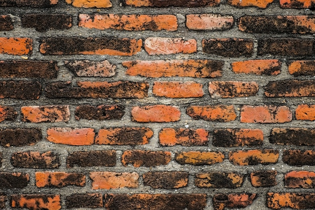 Oude vintage bakstenen muur textuur