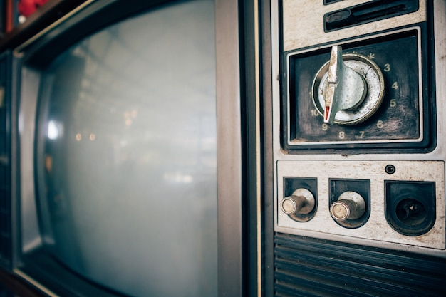 Oude vintage klassieke retro televisie