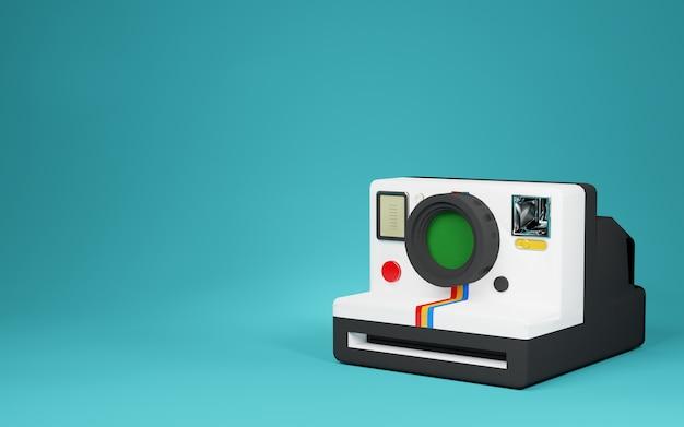Oude vintage polaroid camera render afbeelding