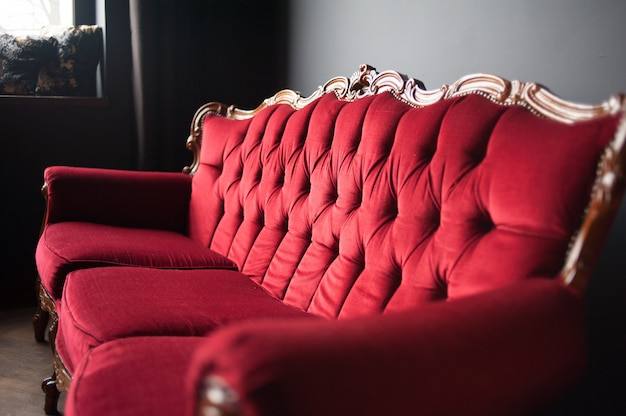 Oude vintage sofa interieur