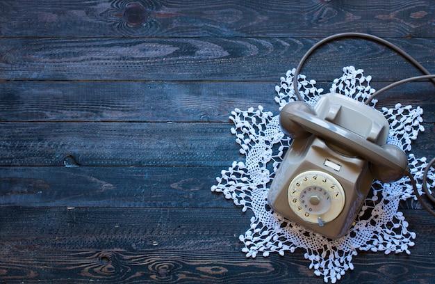Oude vintage telefonische ruimte voor tekst.