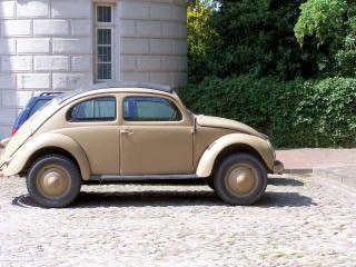 Oude volkswagen kever uit de tweede wereldoorlog 2, auto