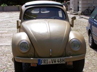 Oude volkswagen kever uit de tweede wereldoorlog 2, ww