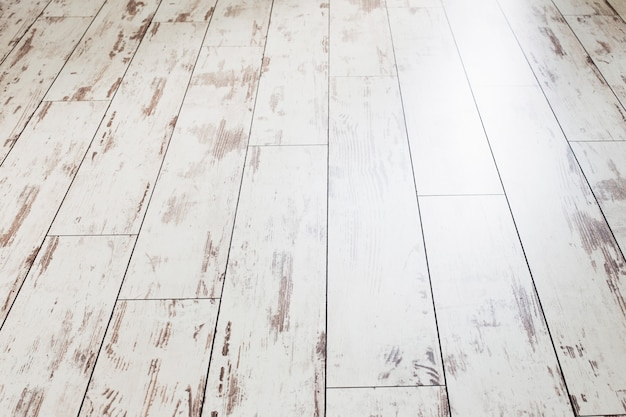 Oude witte grunge geschilderde vloer