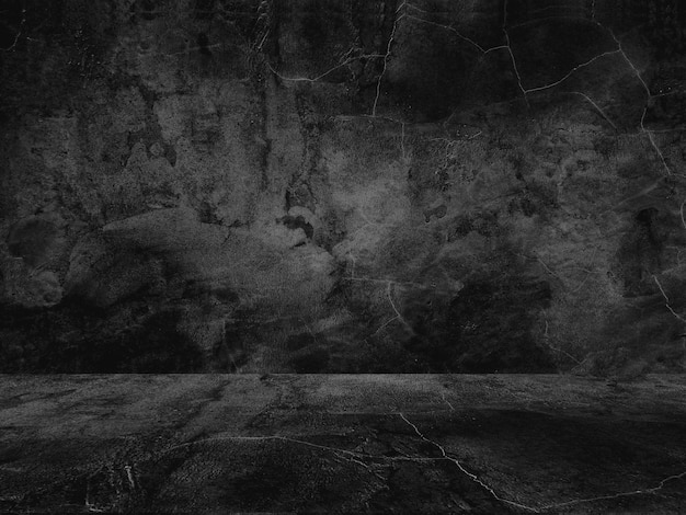 Oude zwarte achtergrond. grunge textuur. donker behang. blackboard schoolbord beton