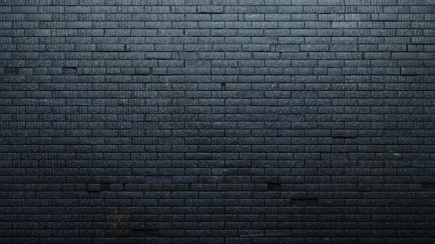 Oude zwarte bakstenen muur
