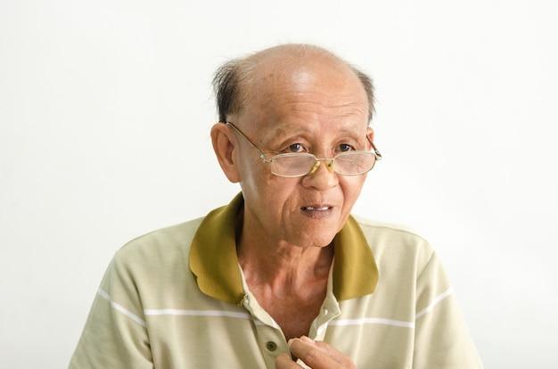 Oudere senior mannen portret