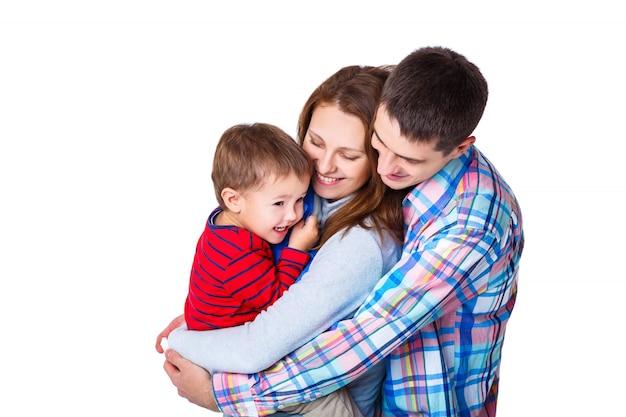 Ouders spelen met zoon