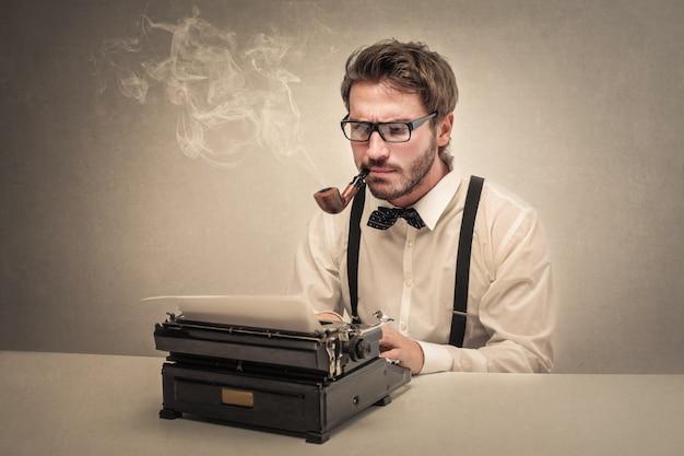 Ouderwetse schrijver