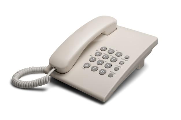 Ouderwetse telefoon op achtergrond