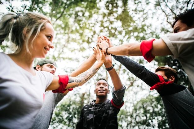 Outdoor team oriëntatieloopactiviteit