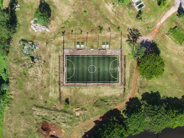 Outdoor zaalvoetbal, voetbalveld