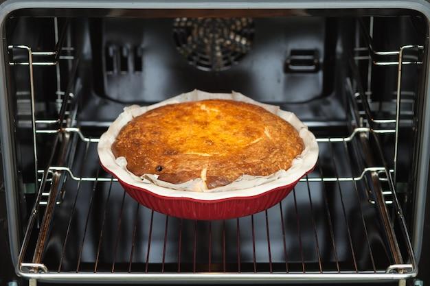 Ovengebakken cottage cheese braadpan.