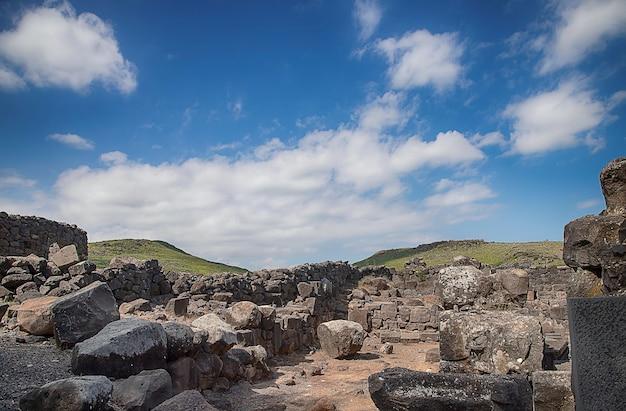 Overblijfselen van de oude stad korazim israël