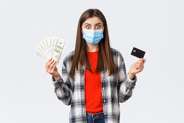 Overboeking, investering, covid-19 pandemie en thuiswerken concept.