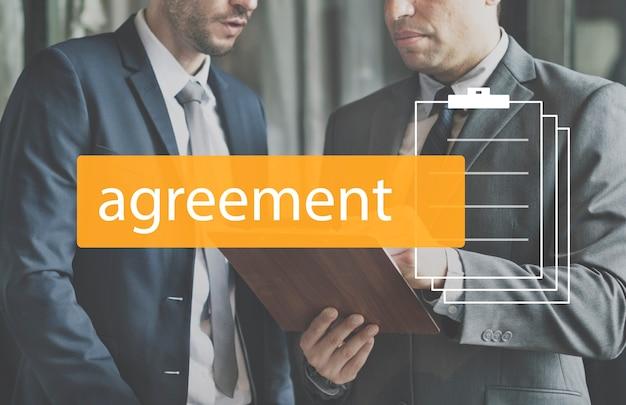 Overeenkomst overeenkomst commitment onderhandeling zakelijk