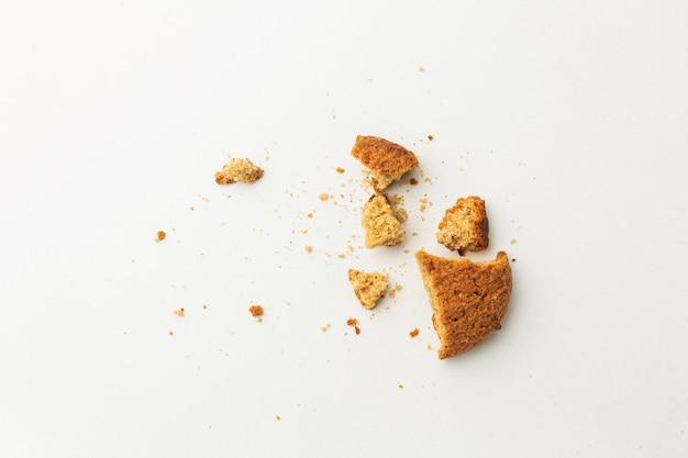 Overgebleven kruimels van voedselresten