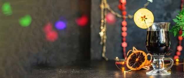 Overwogen wijn kerst banner