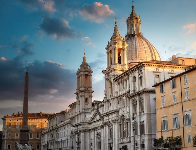 Overzicht op piazza navona in rome