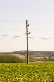 Paal voor het uitvoeren van elektrische leidingen