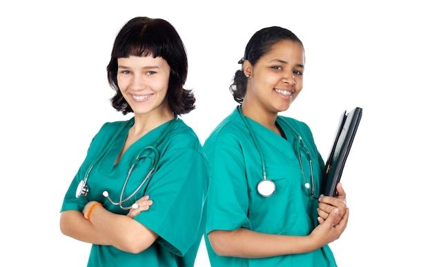Paar artsenvrouw