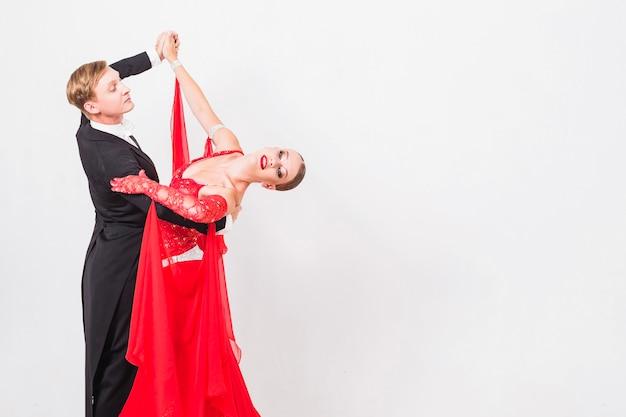 Paar dansende stijldans