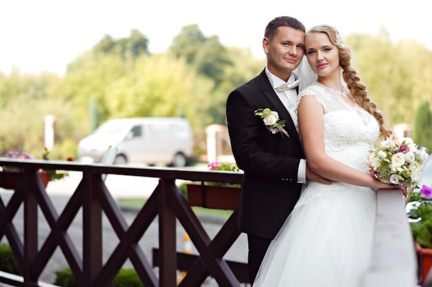 Paar fotoshoot op de trouwdag