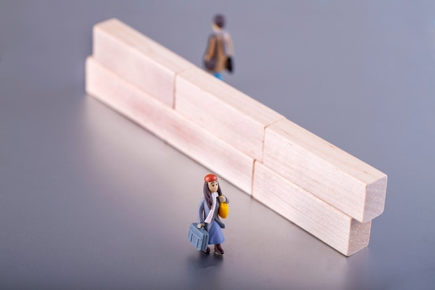 Paar in echtscheidingscrisis, concept familie gebroken en relatieproblemen