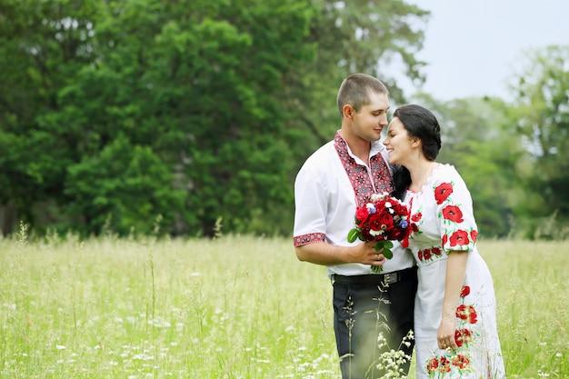 Paar in veld