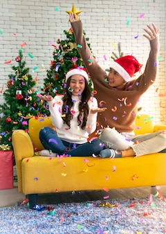 Paar kerstviering
