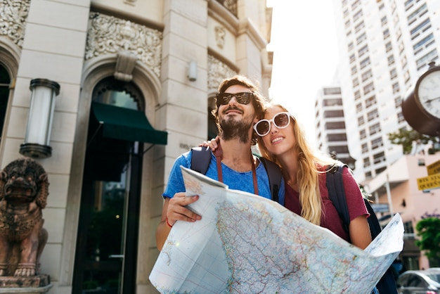 Paar reizen zwerflust reis