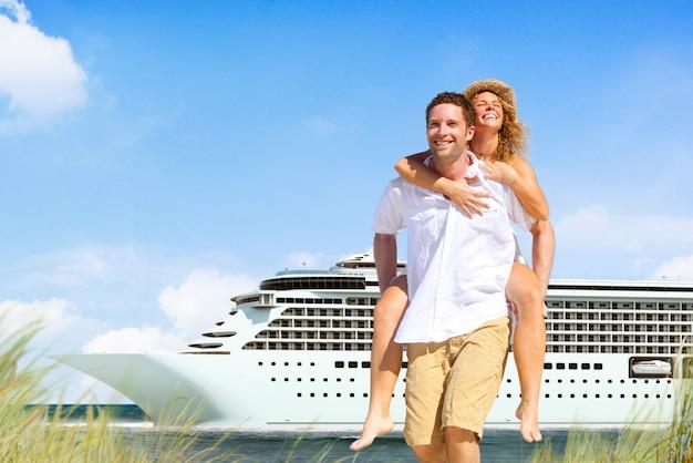 Paar strand cruise vakantie vakantie vrije tijd zomer concept