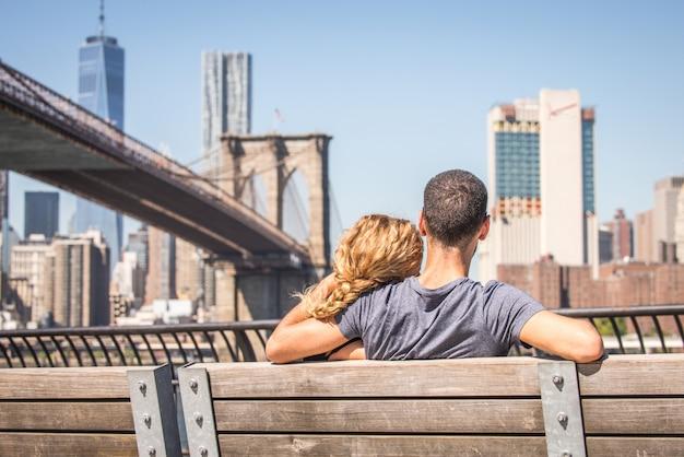 Paar verliefd in new york