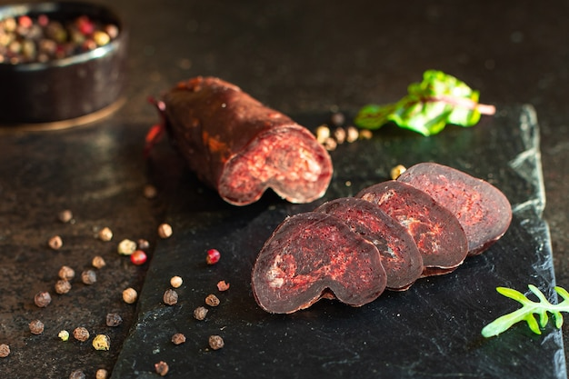 Paardenvlees mahan droog gezouten worst of gezonde rundvleessnack
