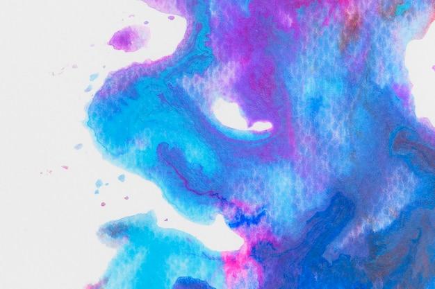 Paars blauw aquarel behang
